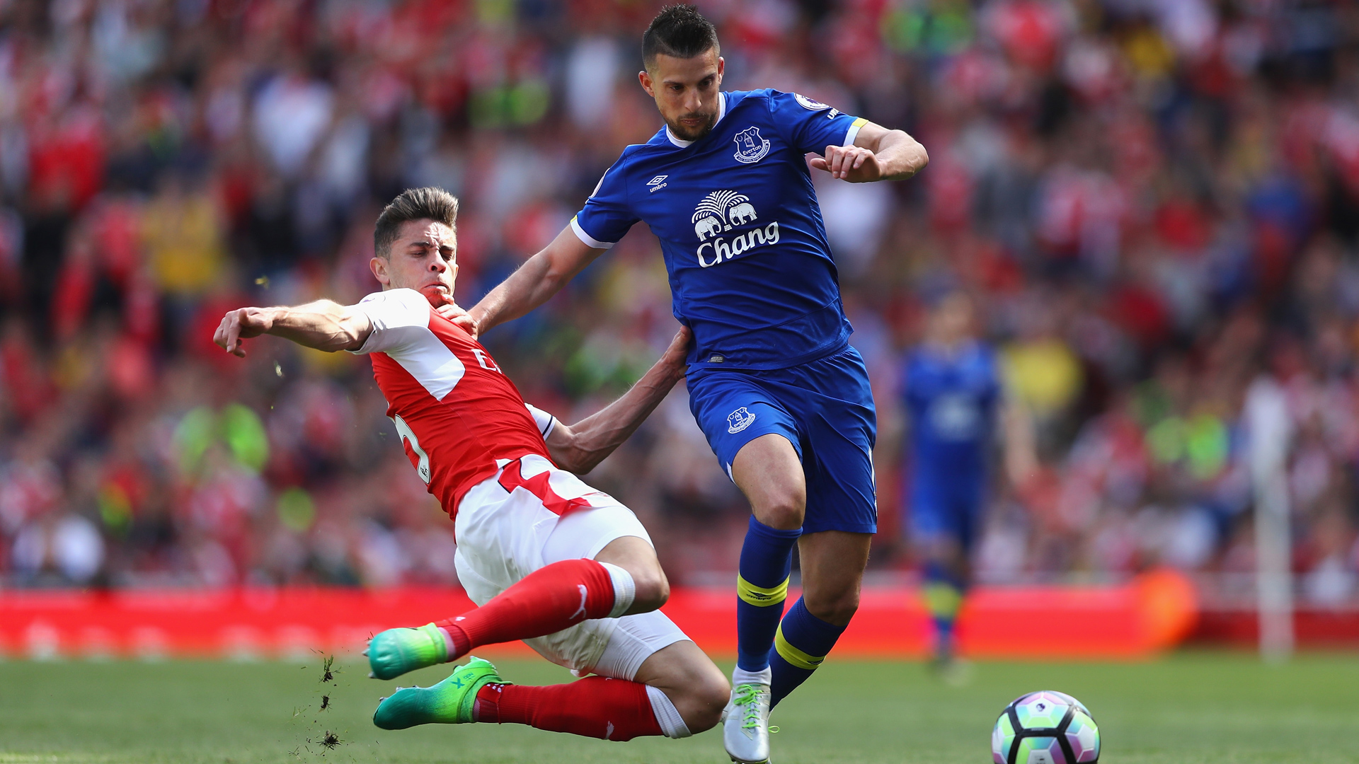 Gabriel, Mirallas, Arsenal - Everton, 05212017