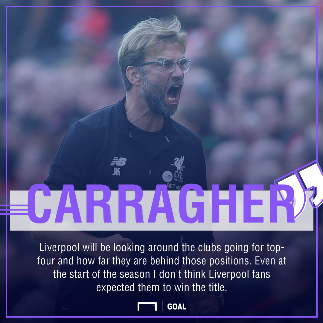 Jamie Carragher Liverpool top four not title