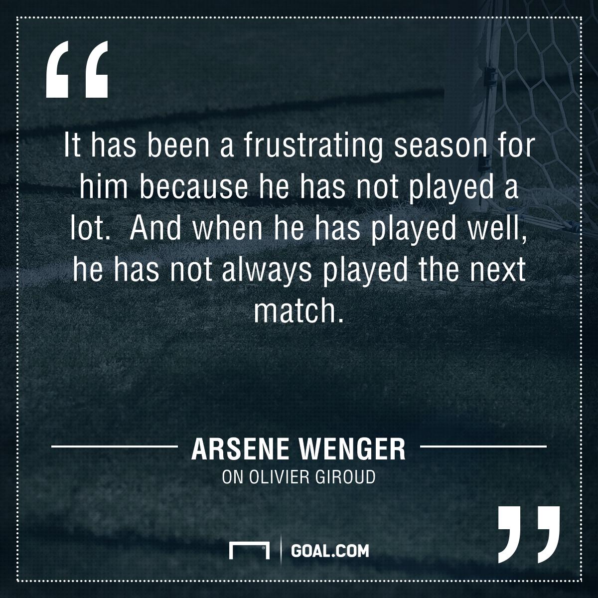 Wenger on Giroud