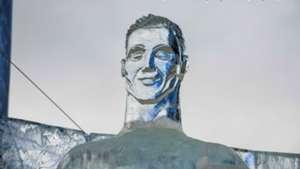 Cristiano Ronaldo ice sculpture Russia World Cup