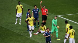 Carlos Sanchez red card Colombia Japan World Cup 2018