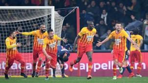 Cheick Diabaté Benevento celebrating