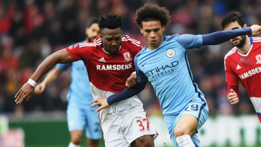 Adama Traore Leroy Sane Middlesbrough Manchester City 11032017