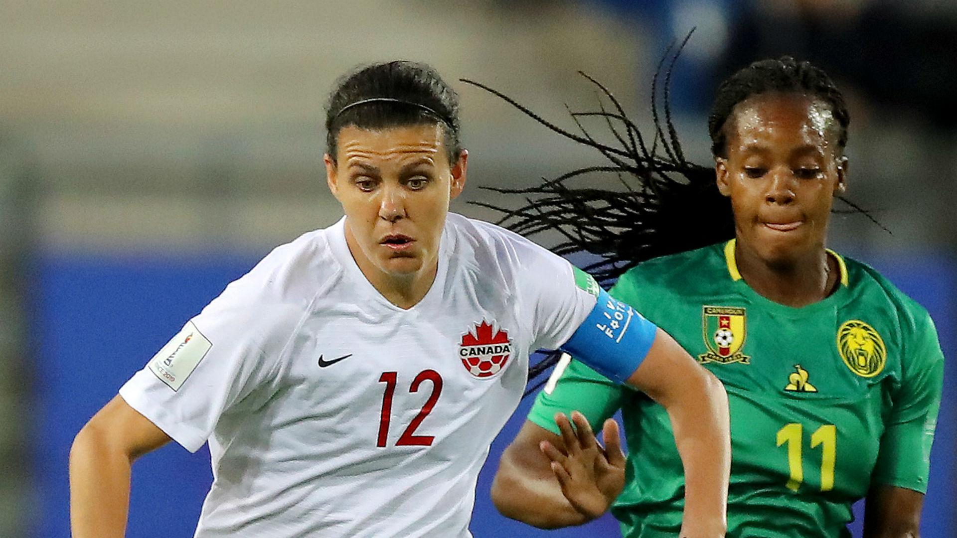 Christine Sinclair Aurelle Awona Canada Cameroon