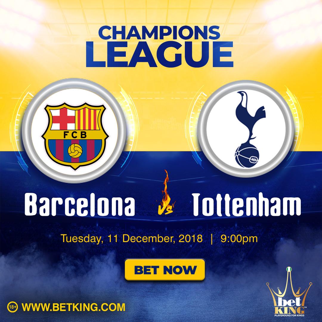 Barcelona V Tottenham Hotspur Match Preview, 11/12/2018