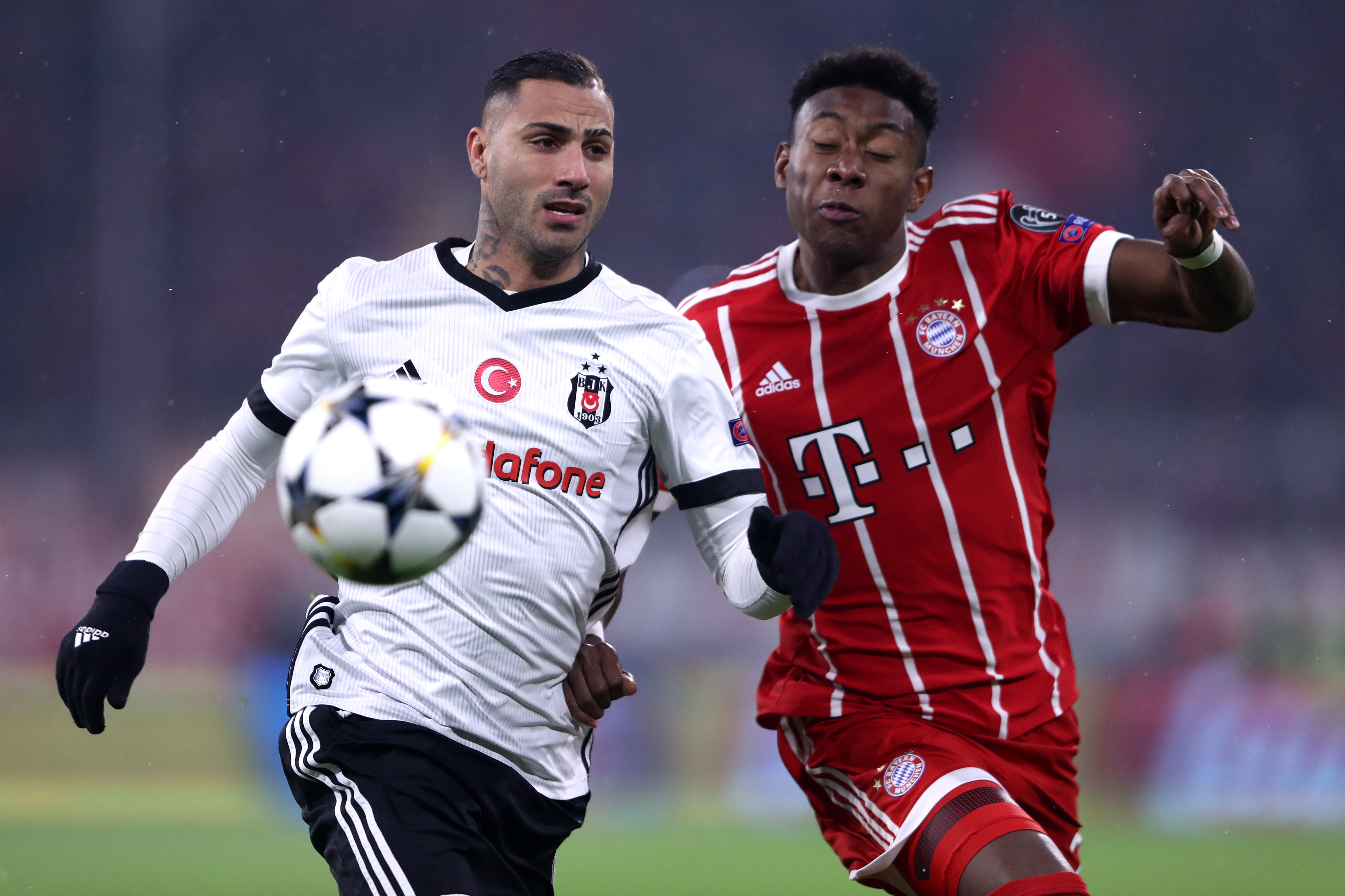 David Alaba Ricardo Quaresma Bayern Munchen Besiktas Champions League 20022018