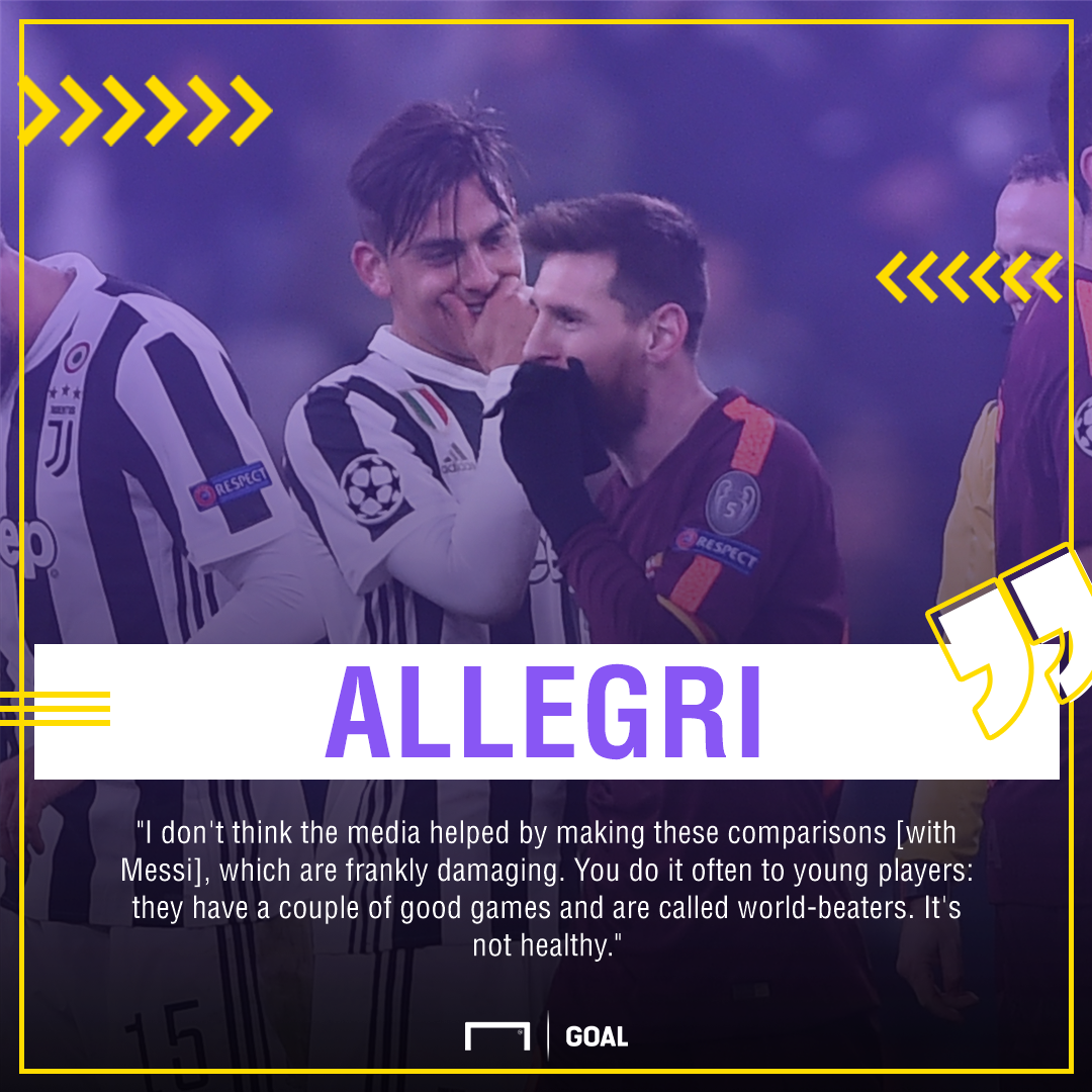 Allegri Dybala Messi PS