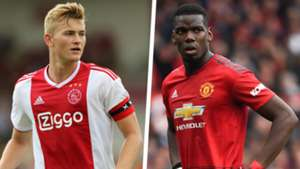 Matthijs de Ligt and Paul Pogba