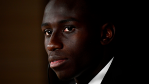 Ferland Mendy during his unveiling as Real Madrid player