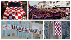 Mandzukic Perisic victory celebration collage