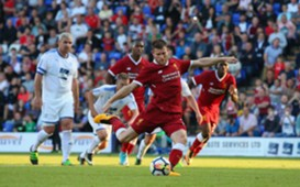James Milner - Tranmere Rovers v Liverpool