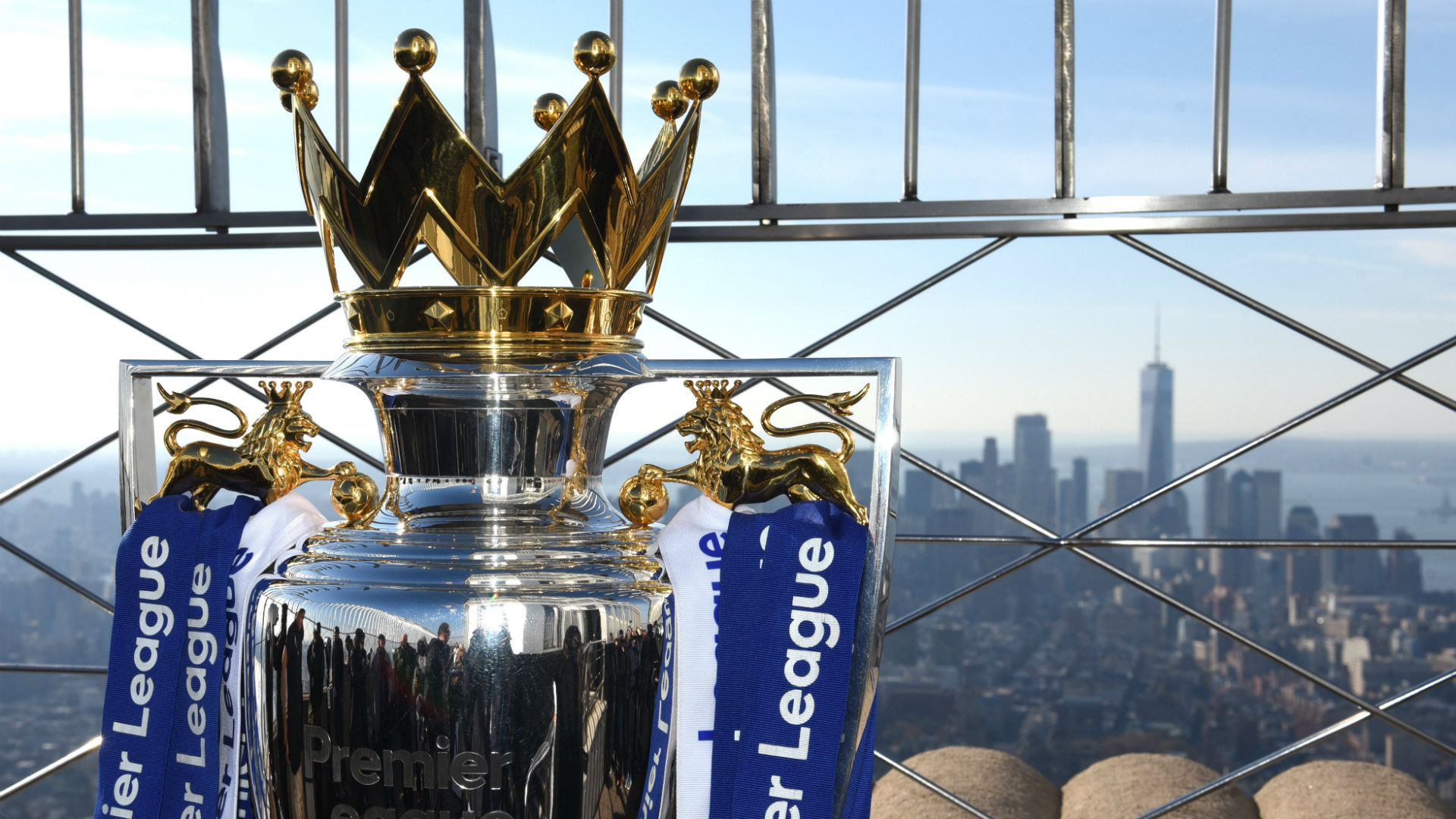 Premier League trophy New York