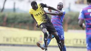 David Majak of Tusker and Joackins Atudo of Posta Rangers.