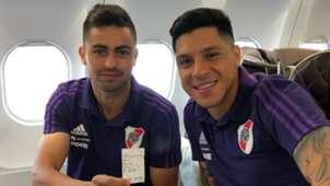 Pity Martinez Enzo Perez River Plate viaje a EAU 11122018