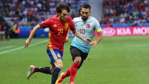 David Silva Arda Turan Spain Turkey Euro 2016