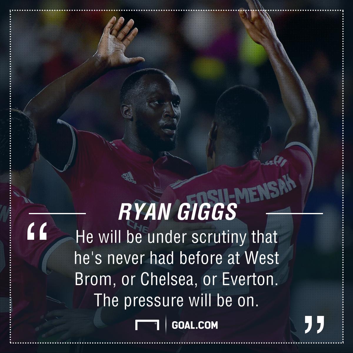Romelu Lukaku Ryan Giggs Manchester United