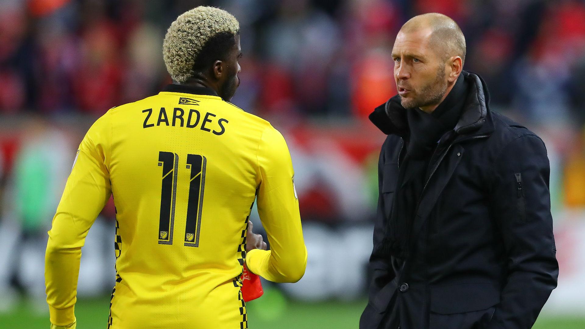 Gregg Berhalter Gyasi Zardes Columbus Crew MLS 2018