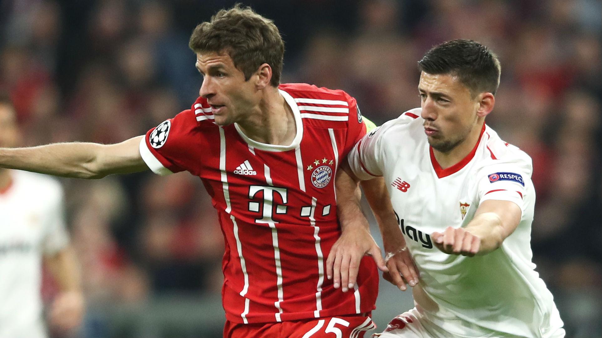 Thomas Muller, Bayern Munich, Clement Lenglet, Sevilla