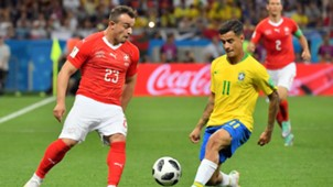 Xheran Shaqiri Coutinho Brazil Switzerland World Cup 17062018