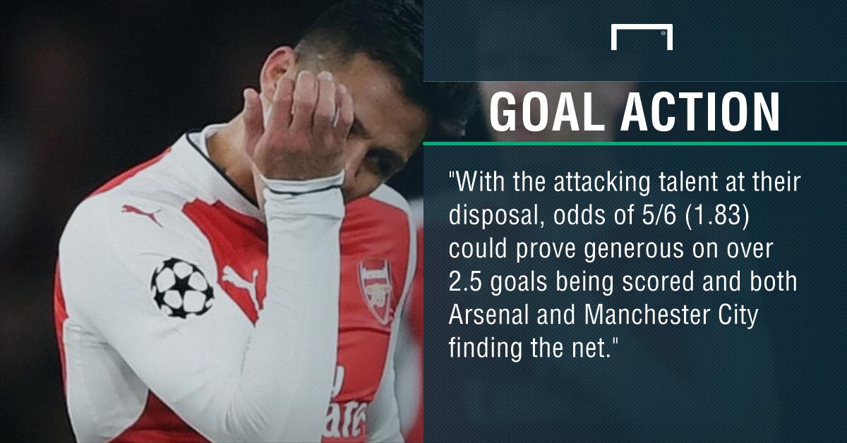 GFX Arsenal Man City betting