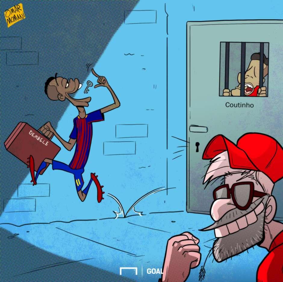 CARTOON Dembele joins Barcelona