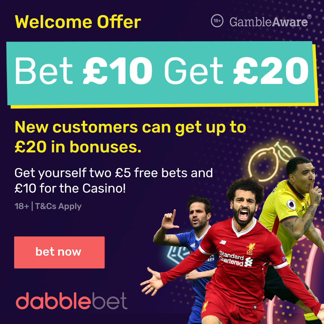 GFX 1080X1080 Bet 10 get 20 dabble new customer offer