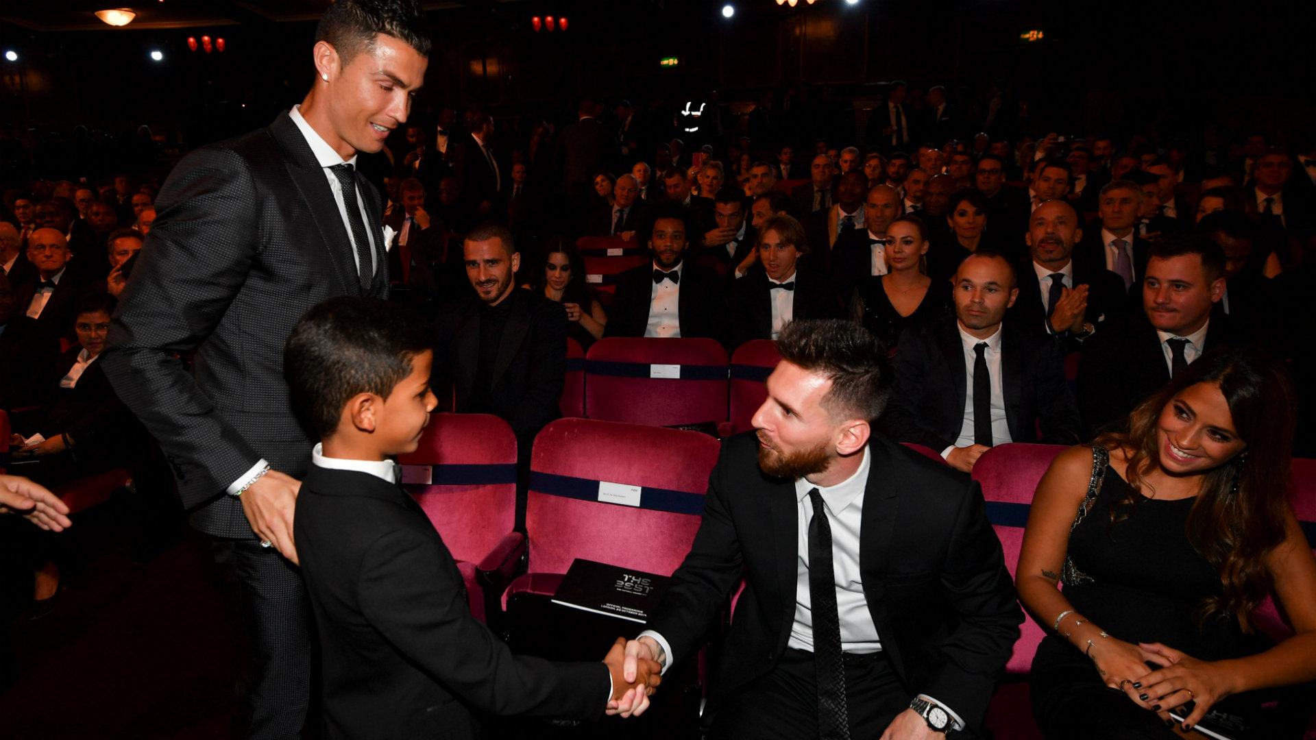 Lionel Messi Cristiano Ronaldo & Cristiano Ronaldo Jr