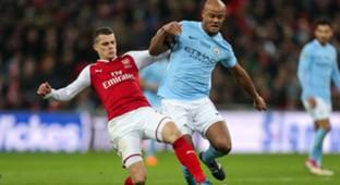 Granit Xhaka Vincent Kompany Arsenal Manchester City