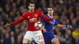 Henrikh Mkhitaryan Cesar Azpilicueta Manchester United Chelsea FA Cup