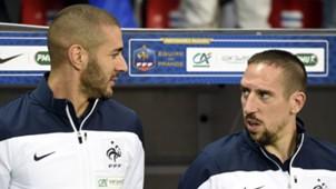 Franck Ribery Karim Benzema Frankreich 01052014