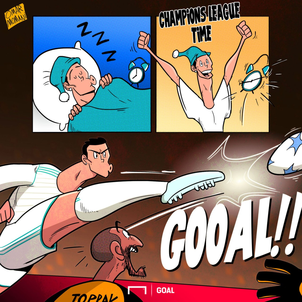 ronaldo cartoon of the day