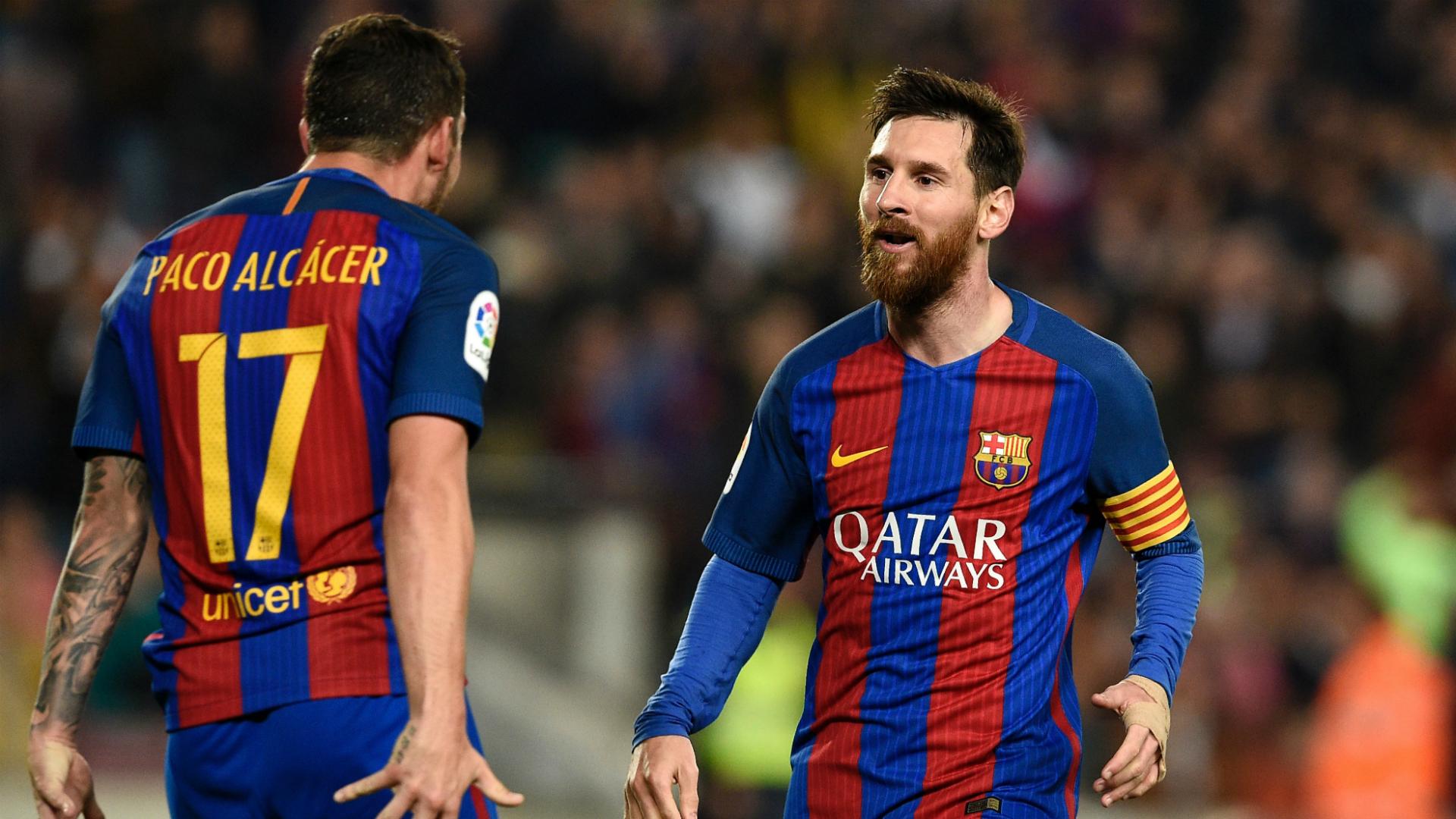 Paco Alcacer Lionel Messi Barcelona Real Sociedad La Liga