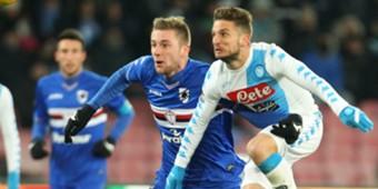 Skriniar Mertens Napoli Sampdoria