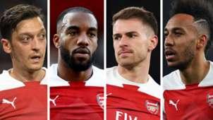 Mesut Ozil Alexandre Lacazette Aaron Ramsey Pierre-Emerick Aubameyang Arsenal