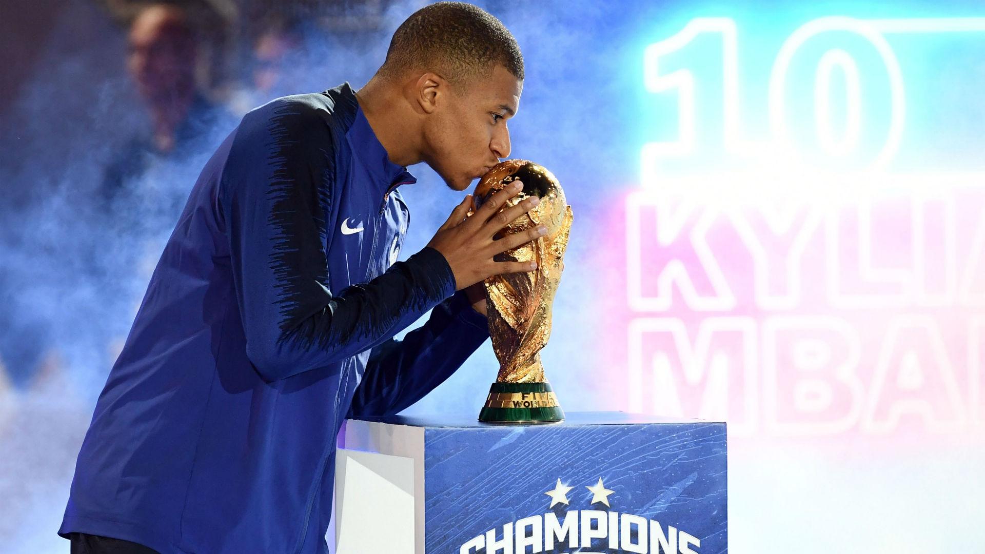 Kylian Mbappe France celebrations
