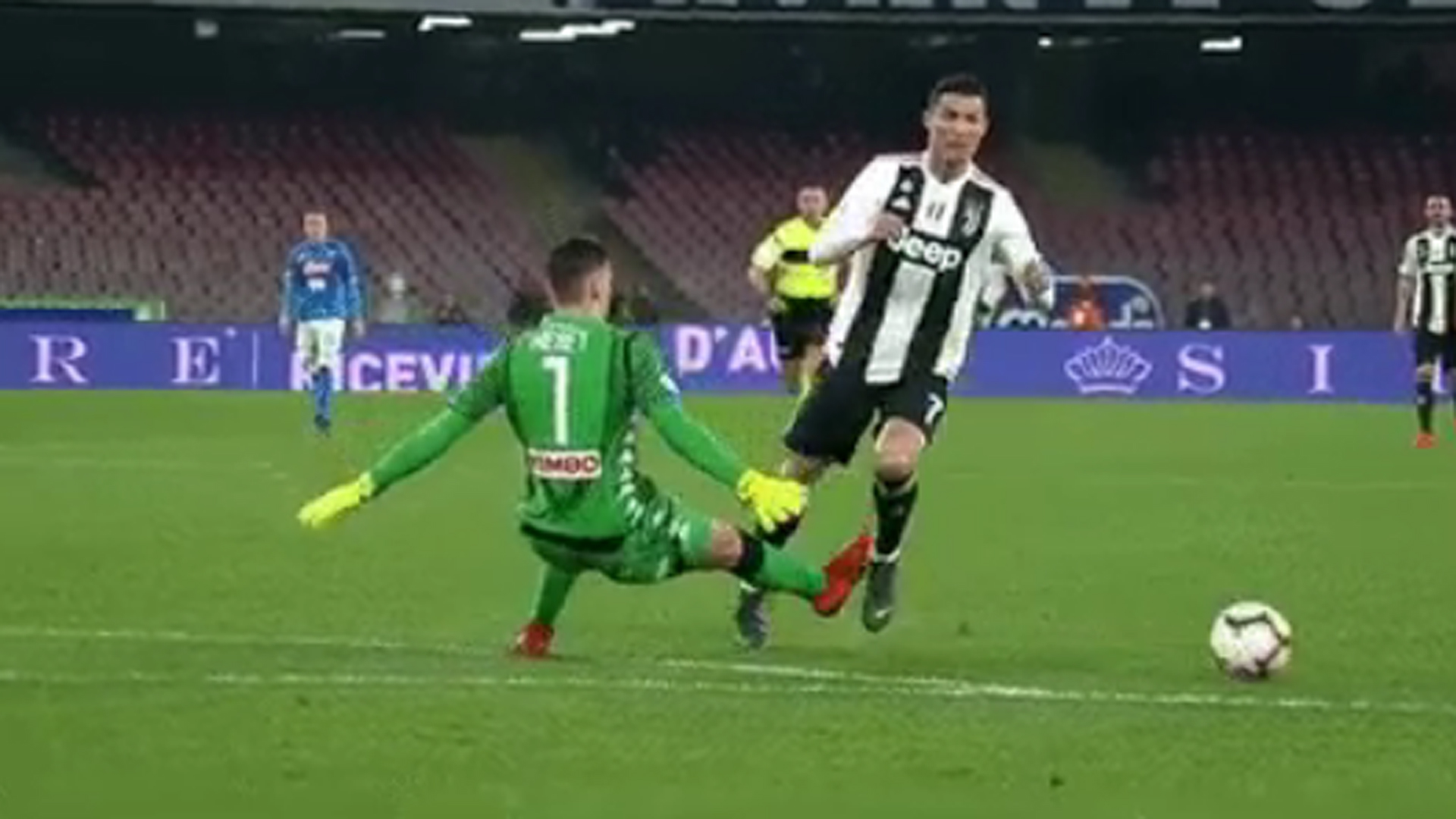 Meret Cristiano Ronaldo Napoli Juventus Serie A