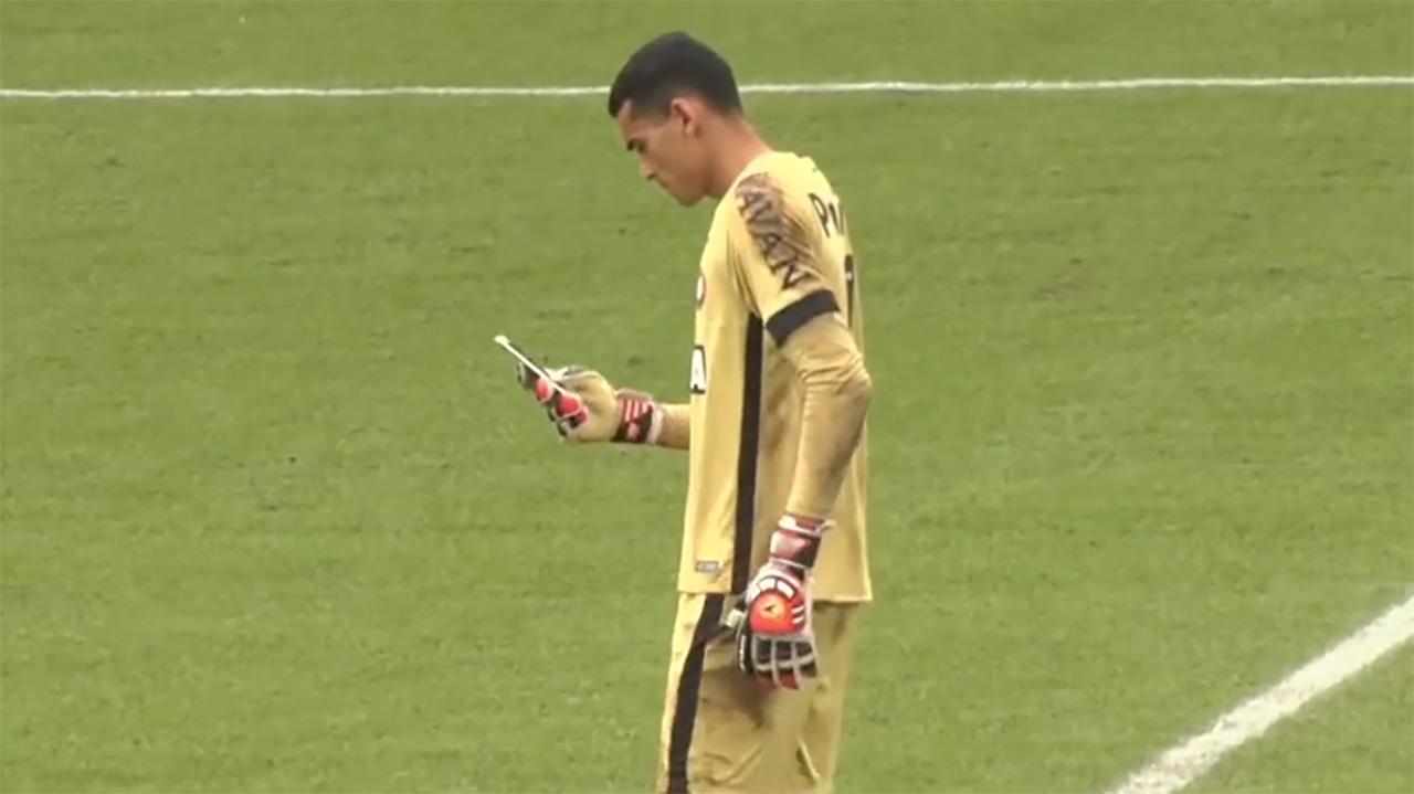 Santos celular Atletico-PR 2018