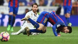 Sergio Ramos Lionel Messi Barcelona Real Madrid