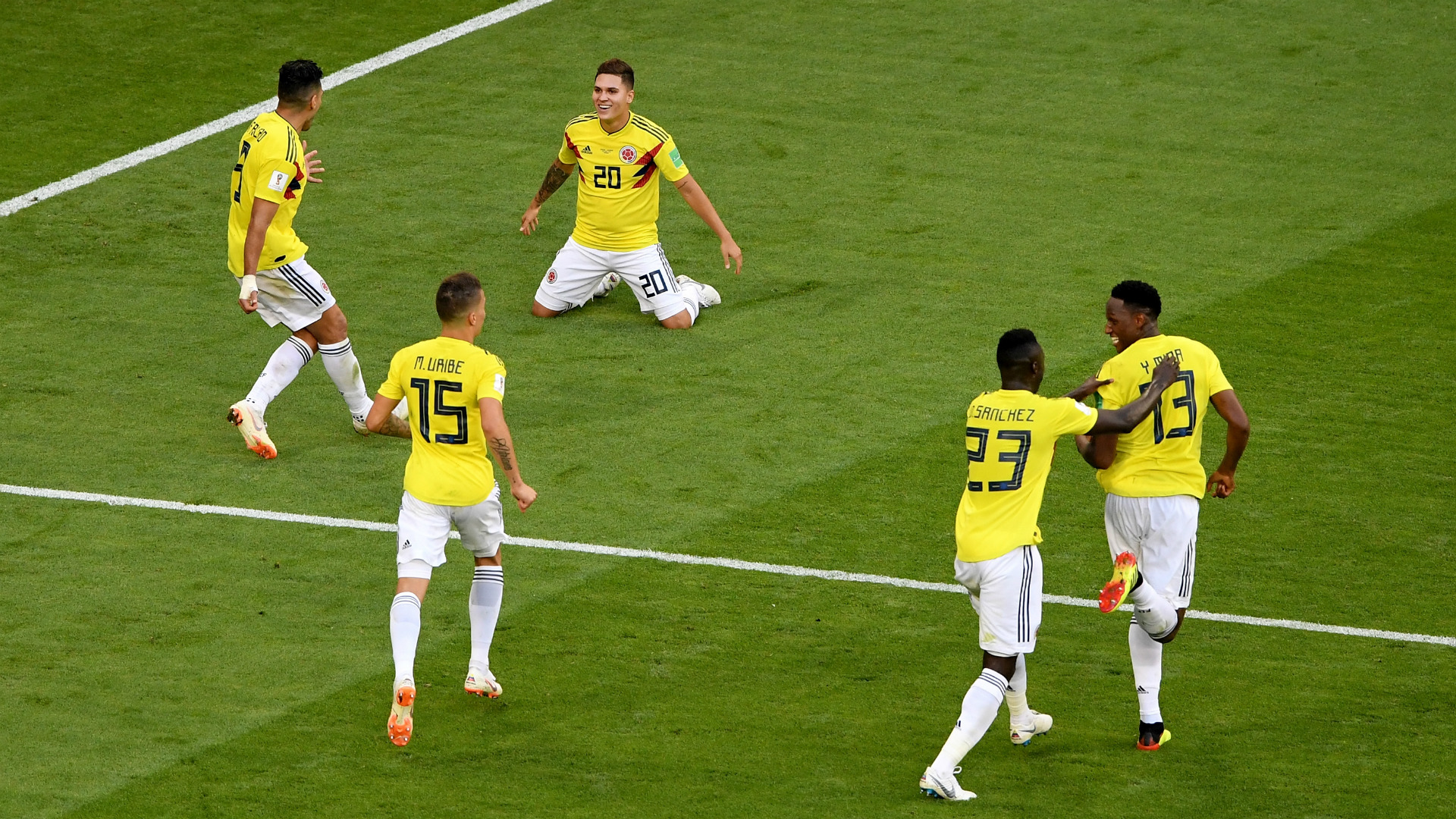 festejo Colombia Senegal WC Russia 28062018