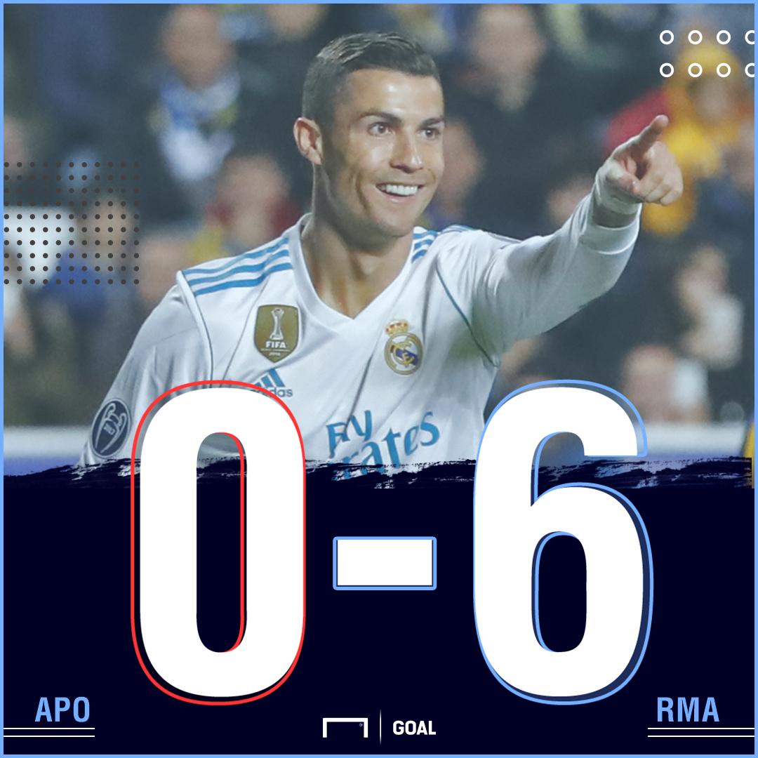 APOEL Real Madrid score