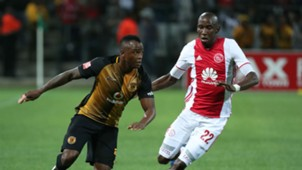 Tsepo Masilela and Mark Mayambela - Ajax Cape Town vs Kaizer Chiefs