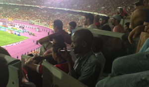no place in the stands of journalists (Borj alarab stadium) egypt V congo