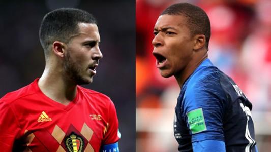 Eden Hazard Belgium Kylian Mbappe France