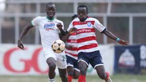 George Amayo and Alexis Hazikimana of AFC Leopards.