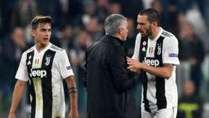 Paulo Dybala Leonardo Bonucci Jose Mourinho Manchester United Juventus Champions League 07112018
