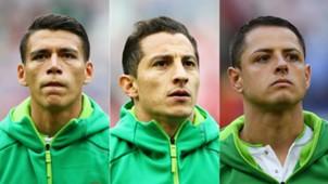 Moreno , Guardado y Chicharito