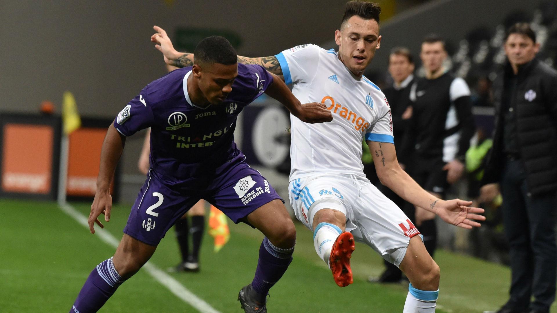 Lucas Ocampos Christopher Julien Toulouse Marseille Ligue 1 11032018