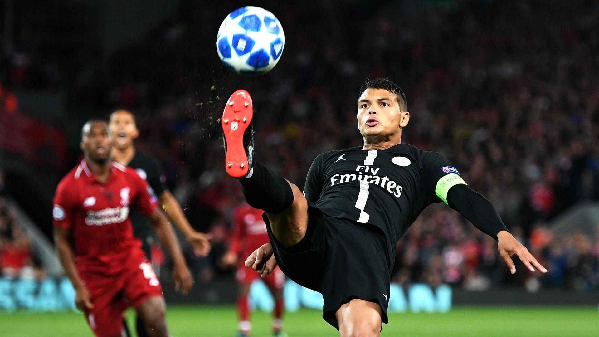 Thiago Silva Liverpool PSG Champions League 18 09 2018