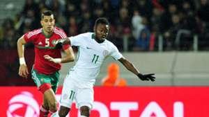 Eneji Moses Nigeria Jawad El Yamiq Morocco 2018 CHAN