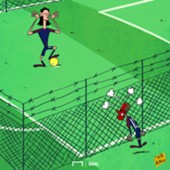 CARTOON Cavani & Neymar fall out